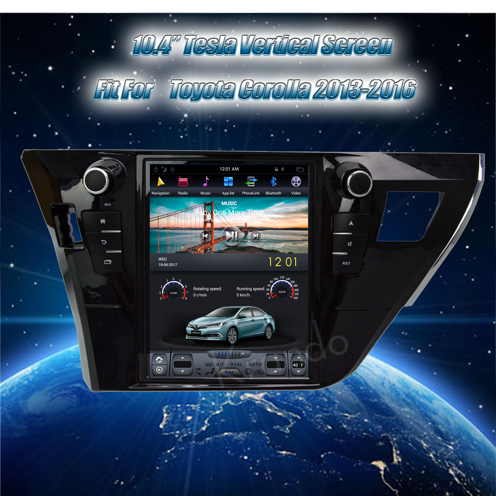 Krando Vertical screen android car radio multimedia for Toyota corolla 2013-2016 Big screen navigation with gps system (3)