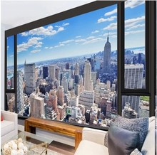 Custom 3d photo wall paper urban landscape embossed wall paper kitchen living room bedroom TV 3d mural wallpaper modern painting