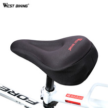 WEST BIKING Cycling Saddle 3D Silicon Gels Cycling Seat Mat Comfortable Cushion Soft Seat Cover Sponge Pad Bicycle Saddle Cover
