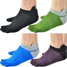 1 Pair/Lot New Men's Socks Cotton Meias Five Finger Socks Toe Socks For EU 40-46 Calcetines Ankle Sok OM