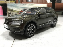 New TIGUAN L 2017 Volkswagen VW original car model 1:18 SUV alloy diecast collection gift boy toy Off-road brown