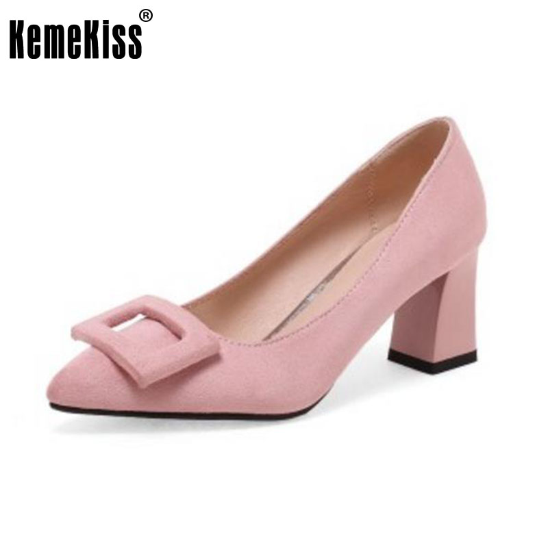 KemeKiss Size 32-44 Women Pumps Pointed Toe Party Shoes Sexy High Heels Woman Wedding Office Bowknot Pumps Zapato Mujer Footwear<br>