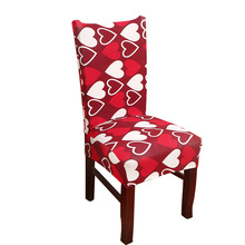 MECEROCK Removable Printing Spandex Stretch Chair Cover Elastic Band Covers for Restaurant Wedding Banquet Hotel Dining Chair(China)
