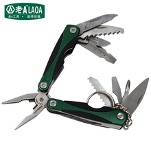 LAOA Multi-function Folding Knife Outdoor Survival Mini Tool Plier Small Size Multi-Function Combination Folding Pliers(China)