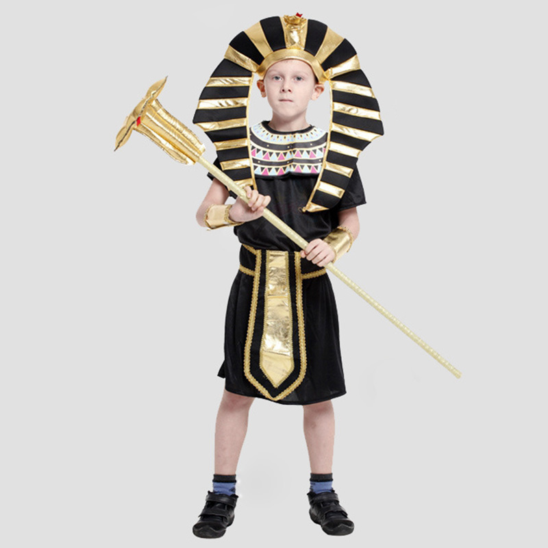 Hot Selling Children Ancient Egyptian Pharaoh Costumes Halloween Cosplay Boys Prince Performance Clothing<br><br>Aliexpress