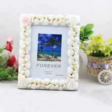 "(Pack/10 Units) Fashioable Handcrafted Ocean Decor 4x6"" Shell Picture Display Frameing For Personalized Gifts YSPF-013(China)"