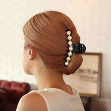 White Pearls Rhinestones Decoration Headdress Hairpin Women Fashion Hair Clips Ladies Jewelry Pearls Hair Claws Size SY369731(China)