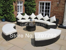 Luxury Rattan Garden Furniture Set Sofa and Table(China)