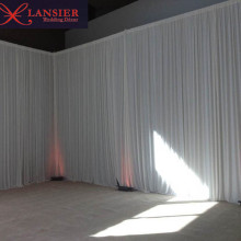 3 m x 6 m luxury white silk wedding backdrop event party banquet backdrop drapes curtain hotel stage background
