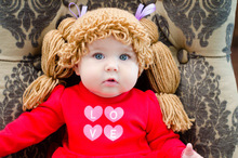 baby Wig Hat Photo Prop Photography Prop Cabbage Patch Wig/Hat. Crochet Cabbage patch hat.Made to order NB-6YEARS free shipping