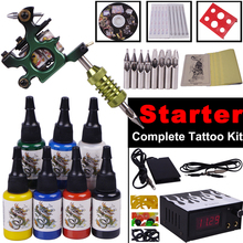 tattoo machine set complete tattoo machine ink tip tool equipment tattoo Body Art kit best tattoo machines price
