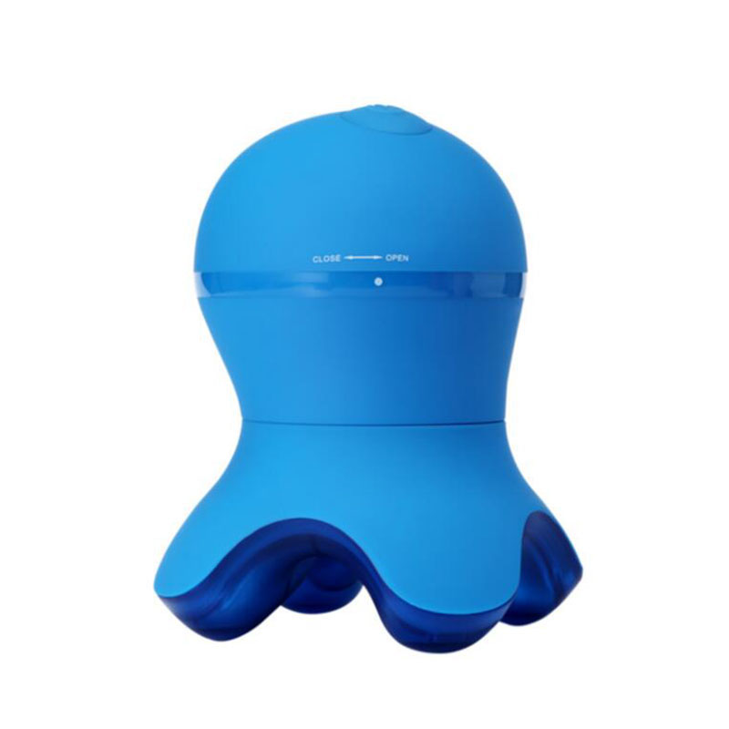 Mini portable silica gel material octopus shoulder neck small massager waterproof four-angle shock octopus massager hot selling<br>