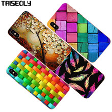 "Triseoly Case for iPhone X colourful Square Weaving Soft TPU Case For iPhone X 5.8""(China)"