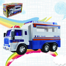 new style Simulation Large inertia Police car Model Alloy Plastic Transport engineering vehicles Toys For Children Gifts