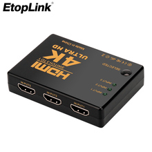 HDMI Switch Adapter 3 in 1 out Ultra HD 4K*2K 3D  Mini 3 Port Port Hub for DVD HD TV Xbox PS3 PS4 1080P video Device Computer