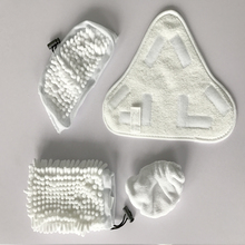 A set of Spare Reusable microfiber cleaning cloths*4  wet and dry forsteam cleaner Accessories