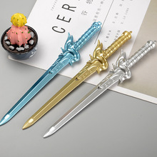 Cute Creative Kawaii Plastic Sword Ink Gel Pen For Kids Writing Novelty Item Korean Stationery Free Shipping 3195(China)