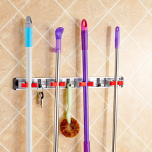 East High Quality Kitchen Organizer Wall Shelf Mounted Hanger Storage Mop Brush Broom Organizer Holder Racks for Cleaning Tools