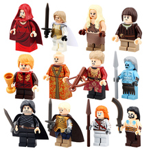 Game of Thrones  Building Blocks White Walker Jon Snow MOC Ice and Fire Series Toys For Children 12pcs/lot PG8029
