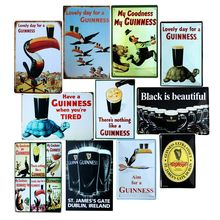 Lovely day for a Guinness Metal Painting Retro Sign Wall Bar Home Art Decor Cuadros  30X20CM A-5820
