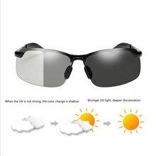 3c2bd59ee4585 Chameleon Descoloração Lentes Fotocromáticas Óculos De Sol Dos Homens  Polarizados condução óculos de Sol para homens óculos de s.