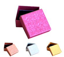Free shipping wholesale 50pcs/lot 7.3*7.3*3.5cm Necklace Pedant Jewellery Packaging Gift Boxes Jewelry Gift Paper Boxes