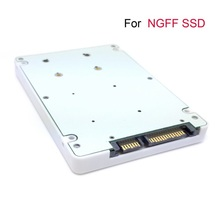 "E431 E531 X240 Y410P Y510P M.2 NGFF PCI-E 2 LANE SSD to 7mm 2.5"" SATA 22pin hard disk case Enclosure White"