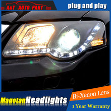 Auto part Style LED Head Lamp for VW Passat led headlights 2007-2011 for Passat drl H7 hid  Bi-Xenon Lens angel eye low beam