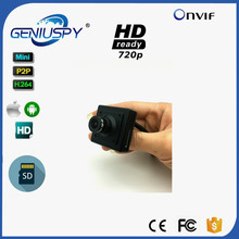 GENIUSPY Small H.264 P2P Onvif 720P HD Sd Card Storage Mini IP Camera Hide Support Phone Video Surveillance Security IP CCTV Cam()