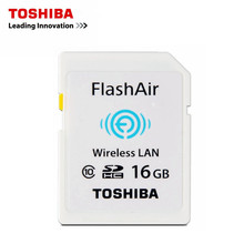 Original TOSHIBA Wife SD Card Real Capacity 16GB CLASS10 Memory Card for camera WIFI download photo video to phone etc