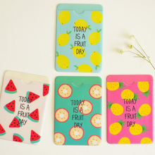 W52 1X Cute Kawaii Fresh Fruit Double-Layer Card Note Holder Bus Business Credit Cover Case Wallet(China)