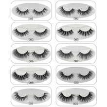 Focallur Mink Eyelashes 3D Mink Hair Lashes Wholesale 100% Real Mink Fur Handmade Crossing Lashes Thick Lash 11 Styles New 1Pair(China)