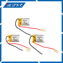 3pcs 3.7 V 150 mah Syma s107 Lipo Battery 651723 Skytech M3 Replacement Spare Parts RC(China)