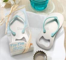 Pop the Top flip flop bottle opener 50pcs /lot wedding bridal shower favor guest gift for men(China)
