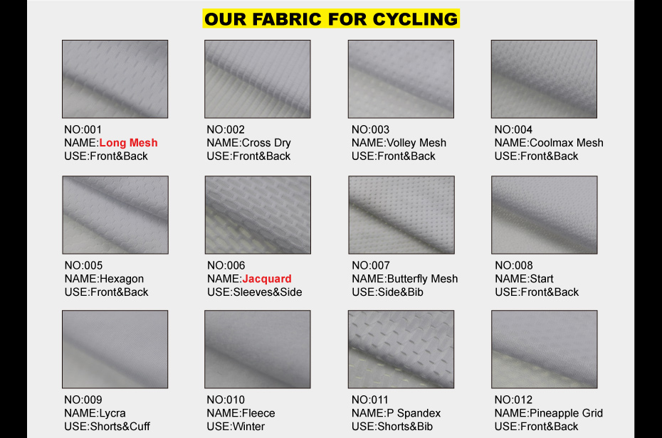 our cycling fabric