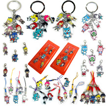 Fairy Tail 12 Styles Japanese Anime Figures Keychain Pendant Action & Toy Figures One Piece Action Figure Key Ring Chain(China)