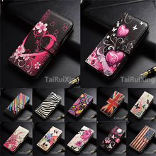"Fashion Love Heart Flowers Butterfly Leather Case Cover For Apple iPhone 6 6S 6 s 4.7 inch"" Wallet Card Cover(China)"
