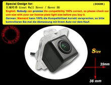 For Sony CCD Great Wall Hover H6 Car reverse back up Parking Rear View Camera night vision waterproof  HD