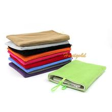 5inch Flannelette Lint Bag Case Pouch for Mobile Phone MP5 Power Bank External Battery
