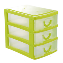1Pc Makeup Organizer Plastic Storage Box For Jewelry Casket 3 Layer Drawers Storage Container Organizer For The Office