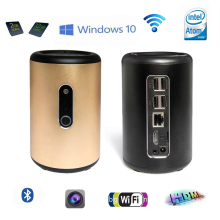 Windows 10 Mini PC with 2.0M Camera Portable Pocket PC Intel Atom Z3735F Quad Core 2GB RAM 32GB eMMC WiFi Bluetooth 4.0