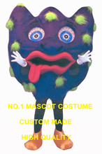 GERM mascot costume adult size new custom purple bacteria bacterium germ health theme anime cosplay costumes advertising 2758(China)