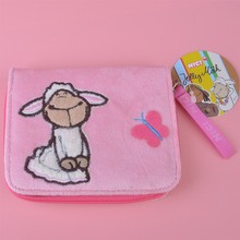 Pink Skirt Sheep Plush Toy Wallet, Kids Child Purse Gift Free Shipping(China)