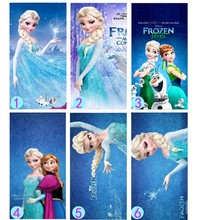 Snow Queen Absorbent Microfiber Bath Beach Towel Children cartoon bath towel Swim Shower Free Shipping Birthday Christmas Gift(China)