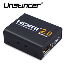 UNSTINCER 60M HDMI Extender HDMI 2.0 Splitter Repeater Signal Amplifier Booster Adapter 1080P@60HZ HDCP 2.2 EDID Bandwidth Up(China)