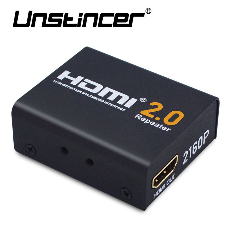 UNSTINCER 60M HDMI Extender HDMI 2.0 Splitter Repeater Signal Amplifier Booster Adapter 1080P@60HZ HDCP 2.2 EDID Bandwidth Up<br>