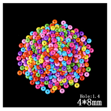 Multi Color Clear Acrylic Flat Round Abacus Bead 370pcs/Lot Wholesale Cheap Decoration Big Hole Bead For Kids DIY Jewelry Making(China)