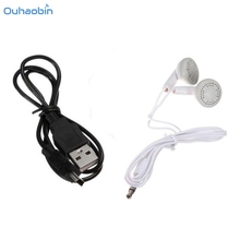 Ouhaobin Popular Selling 3.5mm White In-Ear Earphone For Tablet MP3 and Data Cable Cheap Music Equipment Set For Mp4 Set4