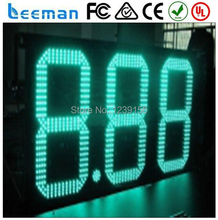 "10"" 8.888 Green LED gas price sign, 8'' led gas price signs outdoor 4 digits gas price led signs"
