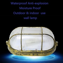 ellipse or circular  anti-explosion Moistureproof outdoor&indoor use wall lamp fixture fitting round oval